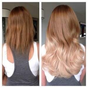 Amazing Great Lengths Colour blocking Extensions - Before and After