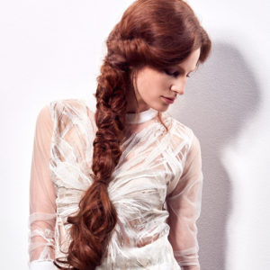 mermaid plait on hair with great lengths hair extensions